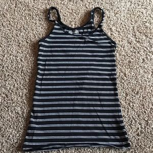 Old Navy Black and White Striped Tank Top